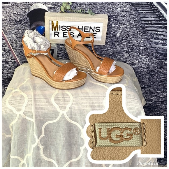7a5c2fb1d4 UGG Shoes | New Fitchie 2 Cow Leather Wedge Sandals | Poshmark